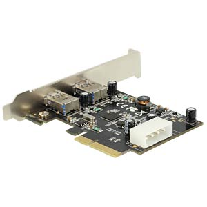 PCI Express x4 Card > 2 x external SuperSpeed DELOCK 89398