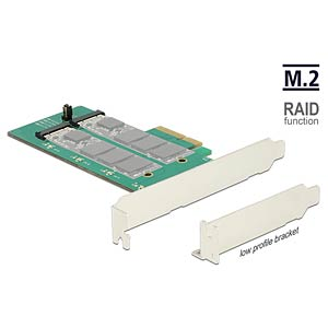 Konverter PCIe Karte > 2 x M.2 Raid an SATA DELOCK 89536
