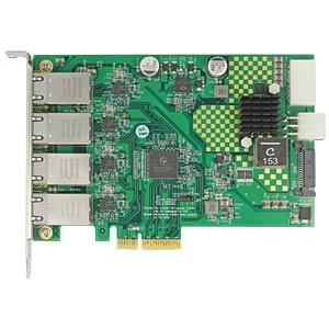 Netzwerkkarte, PCI Express, Gigabit Ethernet, 4x RJ45 DELOCK 89559