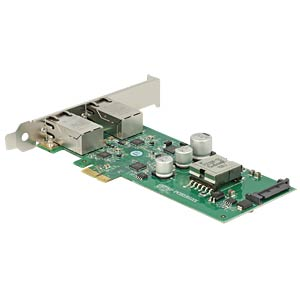PCIe x1 IOI > Gigabit LAN 2 x RJ45 PoE+ DELOCK 89560