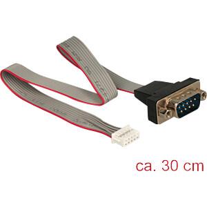Delock Pfostenbuchse seriell > DB9 RS-232 Stecker, 30 cm DELOCK 89632