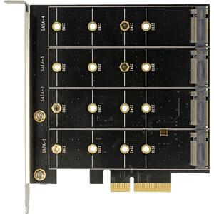 PCI Express Karte > 4x intern M.2 Key B mit RAID DELOCK 89888