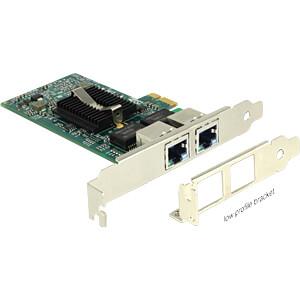 NIC, PCI Express, 2x Gigabit Ethernet DELOCK 89944