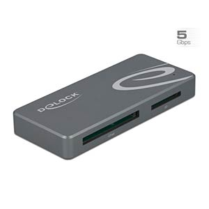 DELOCK 91754 - USB Type-C™ Card Reader + USB Hub mit Typ-A und USB Type-C™