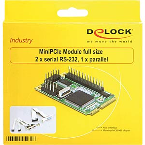 3 Port RS232 DB25, parallel, seriell, miniPCIe full size DELOCK 95232