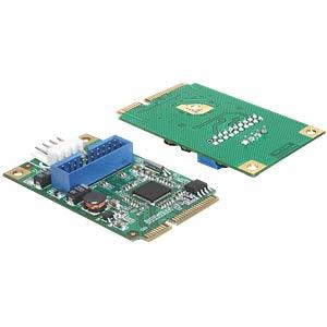 MiniPCIe I/O PCIe fullsize>1x19 Pin USB3.0 Pin DELOCK 95234