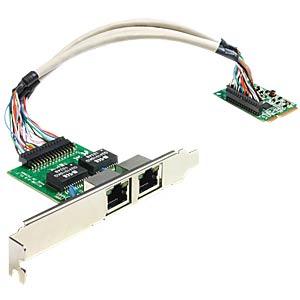 MiniPCIe I/O PCIe full-size Giga LAN 2 x slot bracket DELOCK 95237