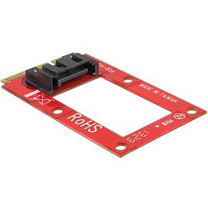 mSATA > 1 x SATA 7-pin socket converter DELOCK 95240