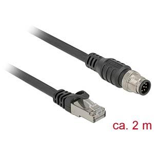 Kabel RJ45 Stecker > M12 Stecker  2 m DELOCK 84923