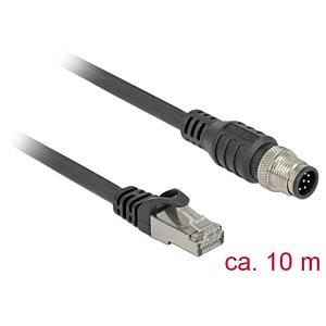 Kabel RJ45 Stecker > M12 Stecker 10 m DELOCK 84926