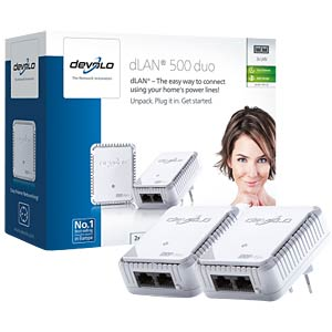 Powerline dLAN duo 500 Mbit/s Network Kit (2 Ada.) DEVOLO 9102