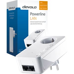 devolo dLAN duo+ 500 MBit/s Adapter (1 Adp.) DEVOLO 9290