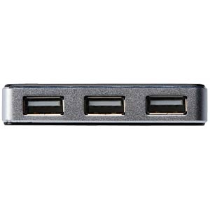 DIGITUS USB 2.0 4-port, black/aluminium, incl. power supply DIGITUS DA-70220