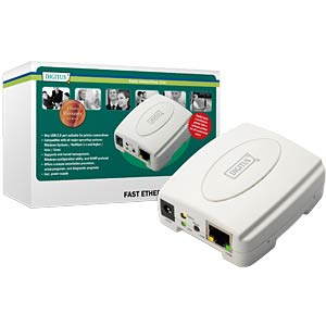 USB Print Server 1-Port USB 2.0 DIGITUS DN-13003-1