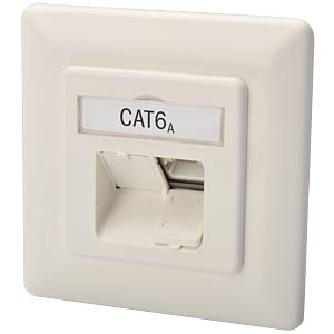 DIGITUS® Cat 6A class EA network socket, compatible design, shie DIGITUS DN-9007-1