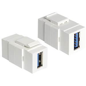 Keystone Modul USB 3.0 A-Buchse >  A-Buchse DELOCK 86319