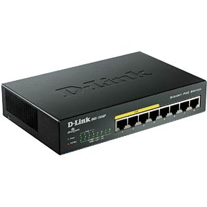 Switch, 8-Port, Gigabit Ethernet D-LINK DGS-1008P/E