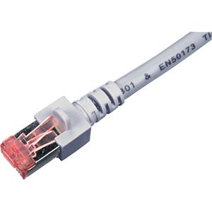 0.5 m Cat.6 PiMF patch cable, white, RJ45 FREI