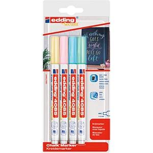 Chalk marker, 1 - 2 mm, pastel, pack of four EDDING 4-4085-4-1PAS