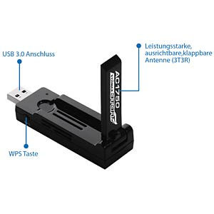 1750 MBit/s DUAL-Band USB WLAN Adapter EDIMAX EW-7833UAC