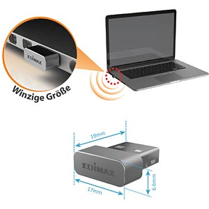 WLAN MAC/WIN USB Adapter - 433 MBit/s EDIMAX EW-7711MAC