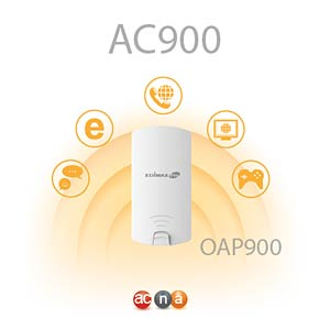 WLAN Access Point 2.4/5 GHz 900 MBit/s Outdoor, PoE EDIMAX OPA900