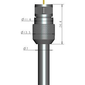 EasyFit F-stekker 7,0mm - 10 stuks PURELINK EF010-10
