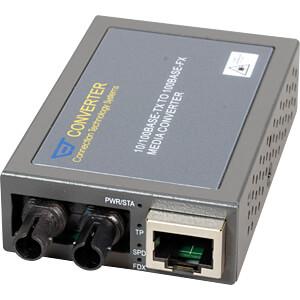 Medienkonverter, Fast Ethernet, SC, Multimode CTS MCT-100BTFT