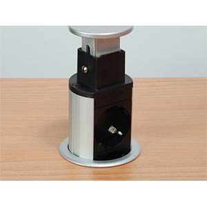 Pop-Up Tischsteckdose mit USB EQUIP 333304