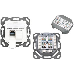 RJ45 connection box, Cat.6A, flush mounting, right/left, 9010 EFB-ELEKTRONIK ET-25130AV4EP