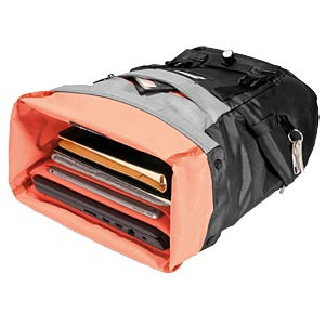 Roll Top laptop-rugzak (15,6 inch), zwart EVERKI EKP161