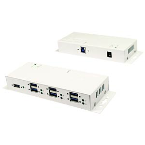 USB 3.0 7-port hub - 1.5 A of power per port - white EXSYS EX-1189HMVS-W