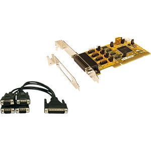 EXSYS PCI Karte 4S Seriell RS-232 + Kabel, Bügel EXSYS EX-41384