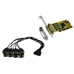 8 Port RS 232, seriell, PCI Karte 16C1050 EXSYS EX-41388