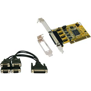 Low-profile 4S serial RS-232 card 32-bit, PCI EXSYS EX-43374