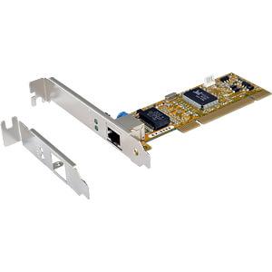 Netzwerkkarte, PCI, Gigabit Ethernet, 1x RJ45 EXSYS EX-6069