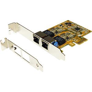 Netzwerkkarte, PCI Express, Gigabit Ethernet, 2x RJ45 EXSYS EX-6072-3