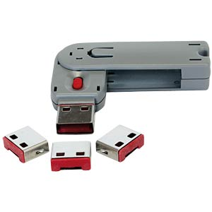 4x USB locks/covers for USB ports, red EXSYS EX-1112-R