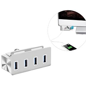 USB3.0 Metal HUB-4port table/monitor EXSYS EX-1126
