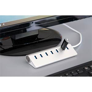 USB 3.0 7 Port HUB Metallgehäuse EXSYS EX-1137
