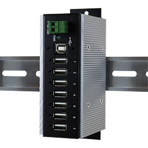 USB2.0 7-port metal hub — over-voltage protection EXSYS EX-1177HMVS-WT