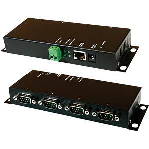Ethernet zu 4 x Seriell RS-232, Metallgehäuse EXSYS EX-6034