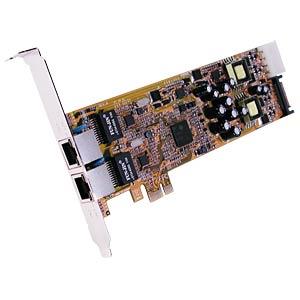 Netzwerkkarte, PCI Express, Gigabit Ethernet, 2x RJ45 EXSYS EX-6072POE