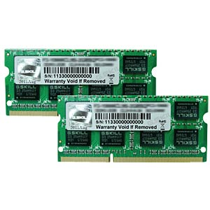 8 GB SO DDR3 1333 CL9 G.Skill 2-piece set G.SKILL F3-10666CL9D-8GBSQ