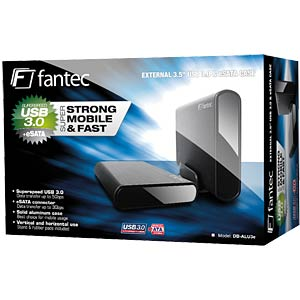 FANTEC DB-ALU3e black ext. housing 8.9cm USB3.0+eSATA FANTEC 1479