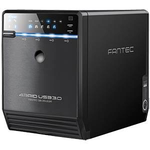 "4x 8.9cm (3.5"") SATA RAID USB3.0+eSATA box FANTEC 1519"