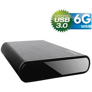 externes 3.5 SATA3 HDD Gehäuse, USB 3.0, Aluminium FANTEC 1659