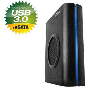 Fantec externes 3.5 SATA HDD Gehäuse, USB 3.0 / eSATA FANTEC 1564