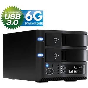 """USB 3.0 - 2x 8,9cm (3,5"""") HDD Gehäuse FANTEC MR-35DU3-6G"""
