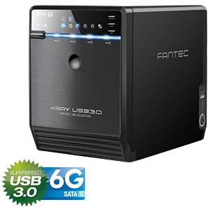 externes 4x 3.5 SATA HDD Gehäuse, USB 3.0 / eSATA Box FANTEC QB-35US3-6G